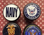 Wine Cork Stoppers Navy s/4