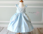 Cinderella Inspired Dress - Cinderella Costume - Cinderella Birthday Dress - Princess Dress - Elsa Dress