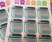 A68 - Mason jar Weekly hydration stickers!