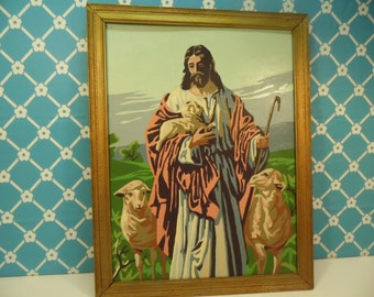 Religious Paint By Number - Jesus - Wood Frame