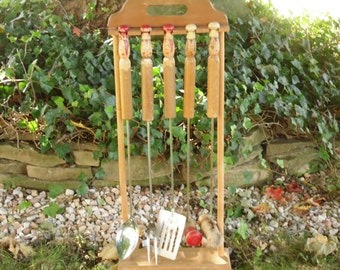 Mid Century BBQ Tools - Grill Set - Cooking Utensils