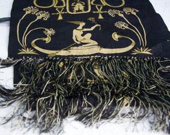 Vintage Egyptian Long Silk Scarf