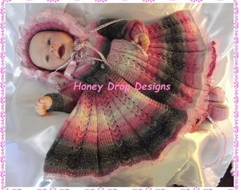 """Angel Delight - To fit 0-3 Months/20-22"""" Reborn - Knitting Pattern"""