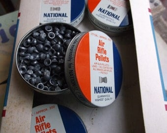 ONE Vintage Tin of Air Rifle Pellets by National Cartridge - Made in Great Britain