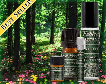 ENCHANTED FOREST - Perfume Oil with Magnolia, Wisteria, Neroli, Hyacinth, Oakmoss, Cedarwood - VEGAN Solid Perfume, Ships Out in 4-7 Days