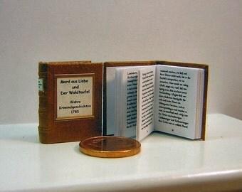 True Crime Stories 1785 Miniature book 1/12