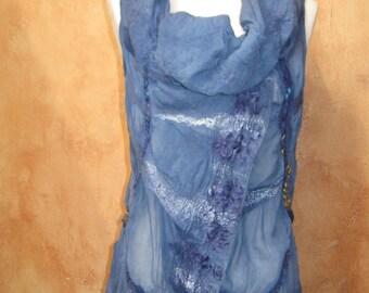 Chiffon Silk Circular Nuno Felt Vest