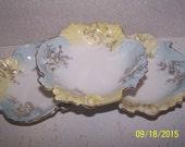 3 Gorgeous Antique Porcelain Bowls, Hand Painted Veggie Bowls or Candy Bowls