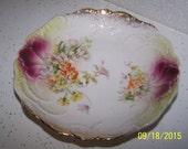 Gorgeous Antique Hand Painted Porcelain Small Bowl