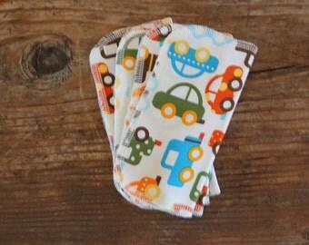 Organic Cotton Cars Children Napkin Overlocked Edge - Eco Friendly