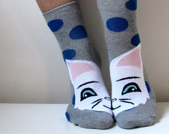 Boot Socks Children Socks Boys Girls Socks Leg Warmer Christmas Socks Cat Socks Casual Cotton Socks Ankle Socks