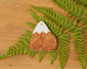 Handmade Snowy Mountain Peak Ceramic Ornament Home Decoration Adventurer Winter Explorer Set of 2