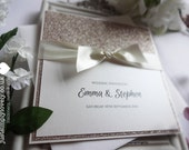 Luxury Glitter Sparkle Wedding Invitation (Pack of 5)