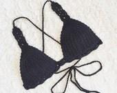 New - Ethina Cross Back Bralette - 20+ Different Colors - Handmade Crochet Bra - Cotton Vegan Clothing - Made to Order - Noelebelle