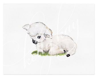 "Art Print - ""Vintage Lamb"" (Horizontal)"