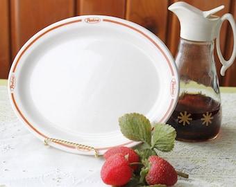 Vintage Buffalo China Perkins Pancake House Restaurant Ware Oval Plate