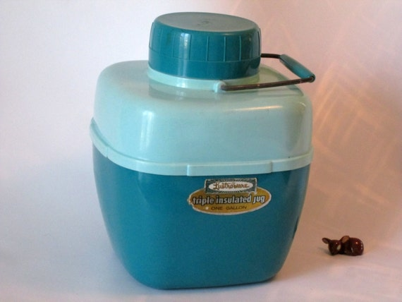 Lustro Ware Triple Insulated One Gallon Jug Turquoise Blue