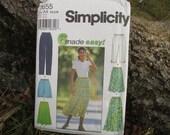 Simplicity Pattern Size AA XS S M Skirt Pant Shorts Pattern