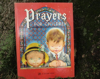 Vintage Golden Book Prayers for Children