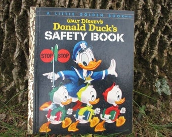 Vintage Little Golden Book Donald Ducks Safety Book 1954