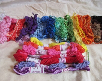 Vintage Embroidery Floss Cross Stitch Thread Used and New
