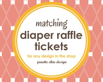 Matching Raffle Tickets Digital Printable PDF