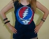 ON SALE Grateful Dead Shredded T shirt - Braided OOAK