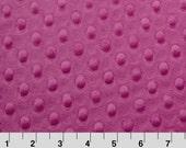 Cuddle Dimple Raspberry - Minky Dots - Shannon Fabrics - 1 Yard