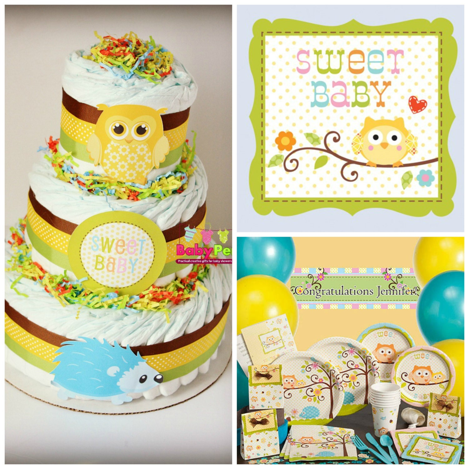 SALE Happi Tree Baby Shower Theme Baby Shower Diaper By