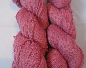Sparkle Lace - A merino, silk and stellina lace yarn blend - Barely Scarlet