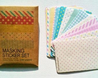 Masking Sticker Set, pastel colors