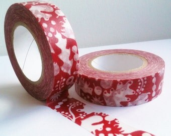 Washi Tape, Squirrel red