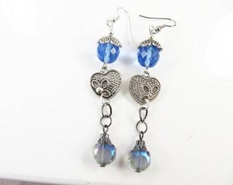 Clearance  - Cut out heart earrings