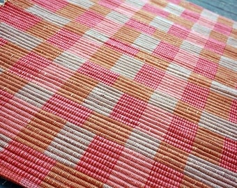 25 x 36 Handwoven Cotton Rug in Reds