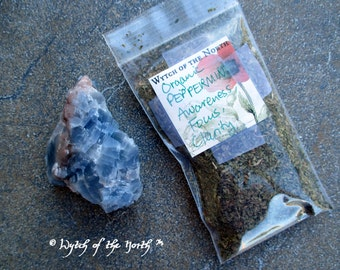 PEPPERMINT Dried Loose Herb - Clarity, Focus, Herbal Enchantments, Witches Apothecary, Botanical Magick, Herbal Magick, Witchcraft, Hoodoo