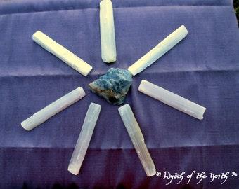 SELENITE Sticks - Natural Selenite Wands for Reiki, Meditation, Spellwork, Altar, Shrine, Chakra Clearing