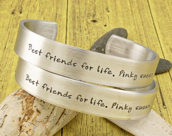 Best Friends Gift | Close Friends Gift | Wedding Rehearsal Gift | Best friends for life... - 2 PIECE SET  by IIWII Emporium