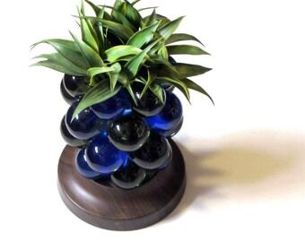 Lucite Grape Cobalt Blue Green Pineapple MCM Office Paperweight Den Bar Decor