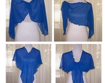 Six (6) Way Scarf, Poncho, Infinity Scarf, Butterfly Jacket, Boatneck, Capelet, Off Shoulder Capelet, Chiffon
