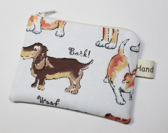 Coin purse, change purse, with dogs, Dachshund
