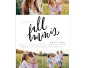 Photography Marketing board - Fall mini sessions - photoshop template - E1325