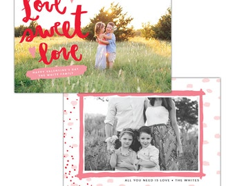 INSTANT DOWNLOAD - Valentine Photocard Template - e1255