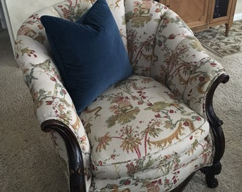 Vintage Chinoiserie Channel/Barrel Chair