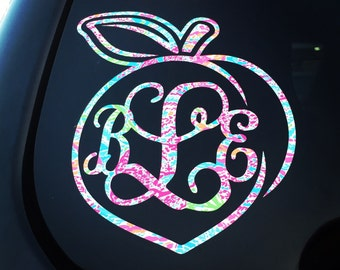 Peach Monogram Decal {Lilly-Inspired}