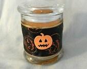 Sparkly Halloween Pumpkin Candle