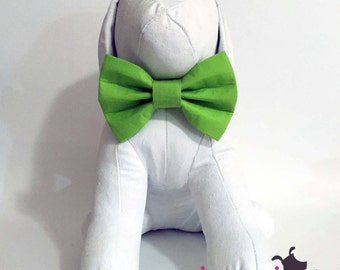 Lime Green Dapper Dog Bow Tie