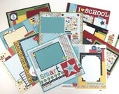 School Scrapbook Page Kit or Premade Pre-Cut with Instructions Graduation School Layouts
