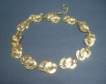 Stylish Gilt Metal Link Belt c 1980s