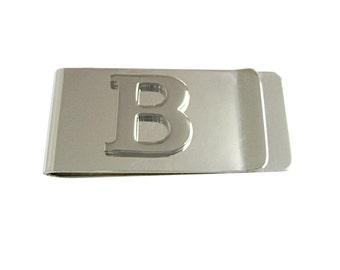 Monogram Letter B Money Clip