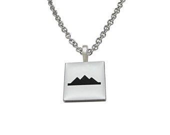 Square Iconic Pyramid Pendant Necklace